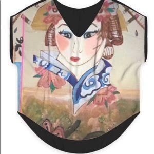 Japanese Geisha Girl Blouse(Custom Made)